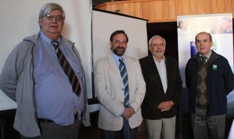 De izquierda a derecha, Jorge Riquelme, Emilio Gil, Carlos Quiroz y Fernando Rodríguez.