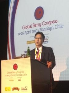 Yoong Sang Lee, representante de la Asociación de Exportadores de Frutas de Chile A.G.  (ASOEX), en Corea del Sur